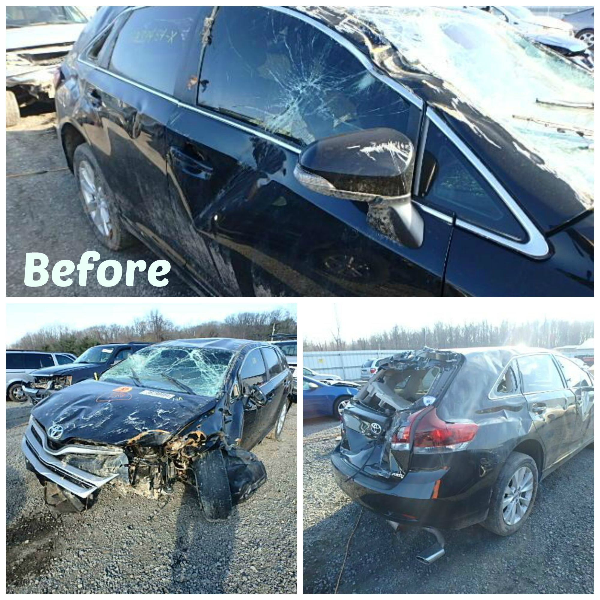 Before and After repairs or how our clients rebuild their cars
